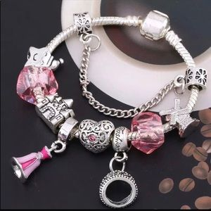Brand New Pink Princess Charm Bracelet